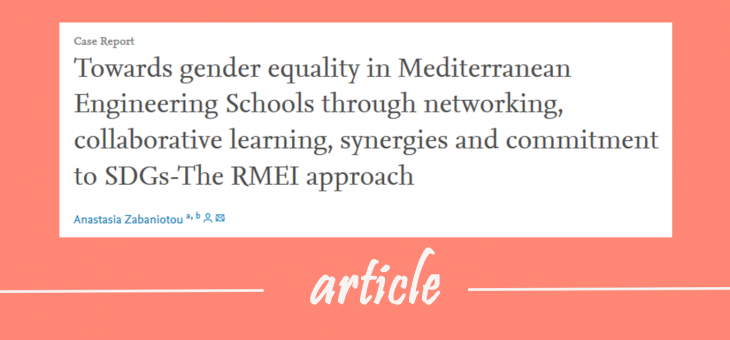 Towards gender equality in Mediterranean Engineering Schools through networking, collaborative learning, synergies and commitment to SDGs – The RMEI approach